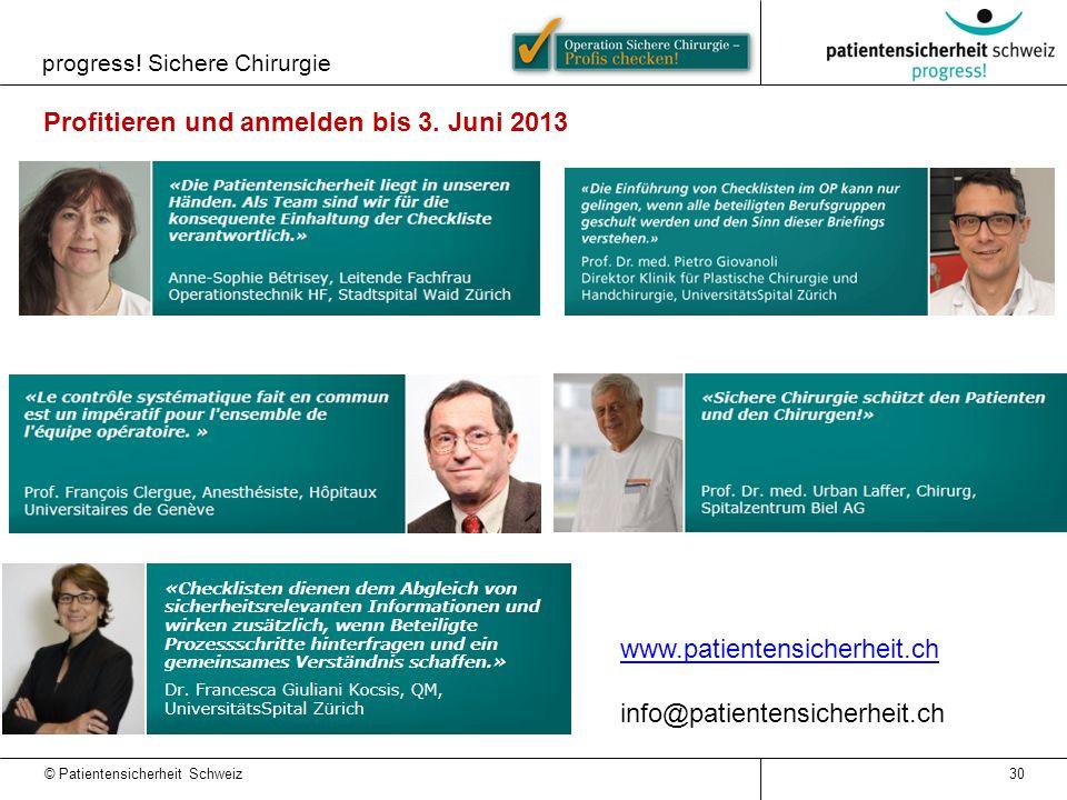 Profitieren und anmelden bis 3. Juni 2013