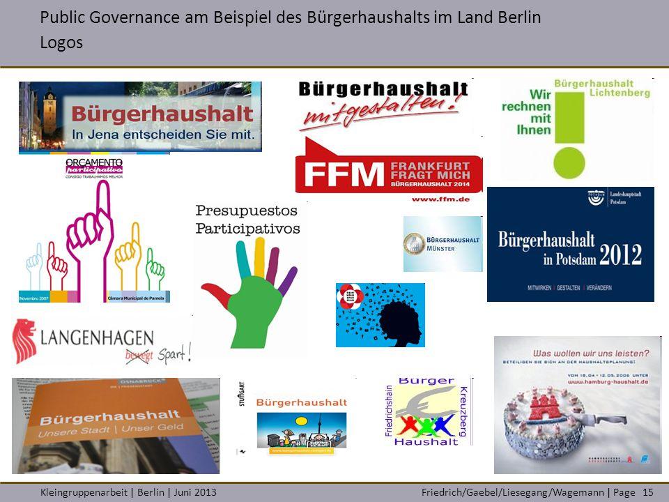Public Governance am Beispiel des Bürgerhaushalts im Land Berlin Logos