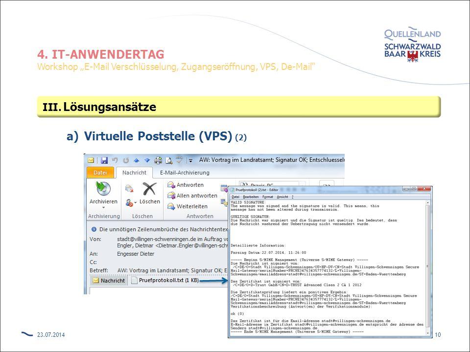 Virtuelle Poststelle (VPS) (2)