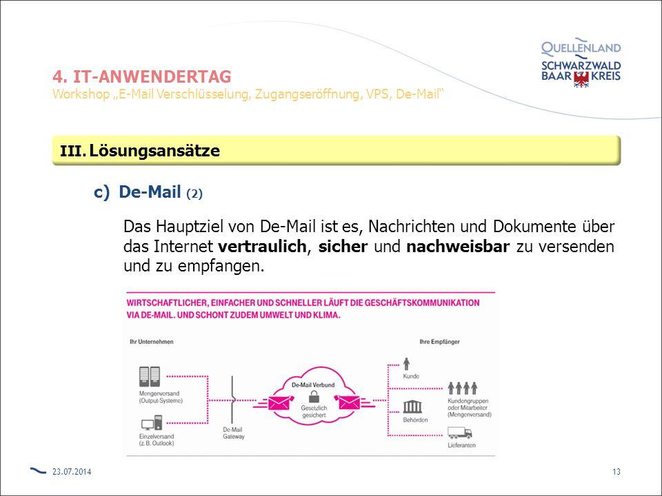 Lösungsansätze De-Mail (2)
