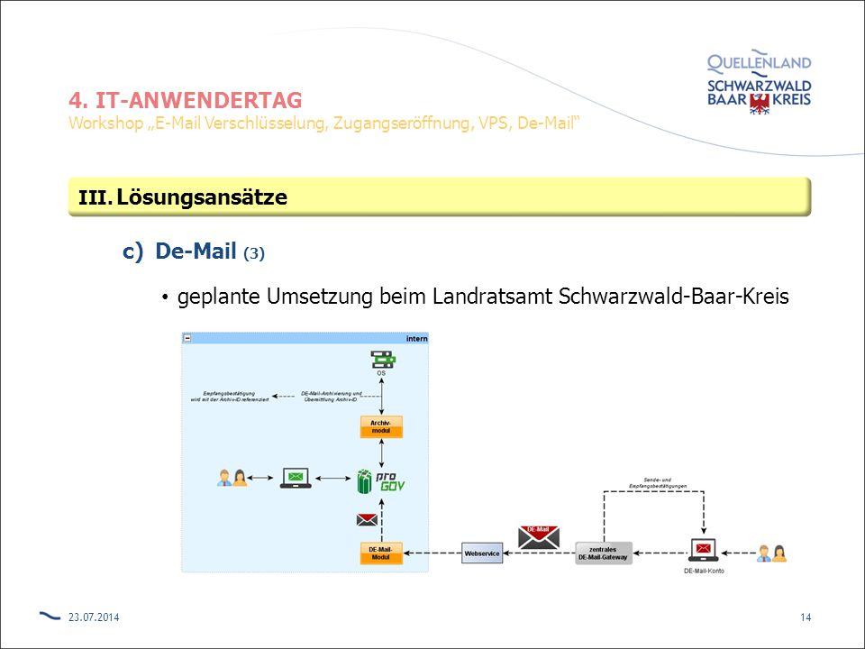 geplante Umsetzung beim Landratsamt Schwarzwald-Baar-Kreis
