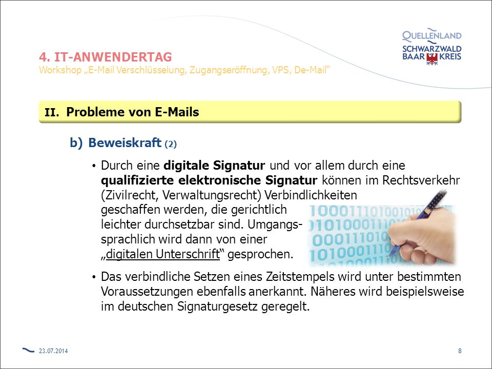 Probleme von E-Mails Beweiskraft (2)