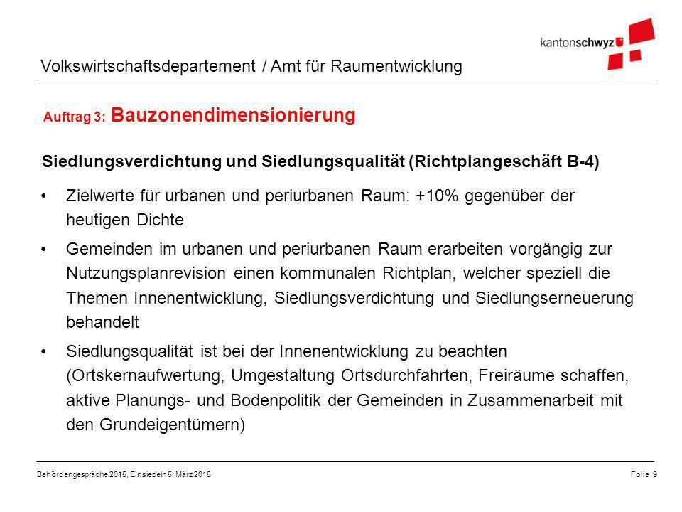 Auftrag 3: Bauzonendimensionierung