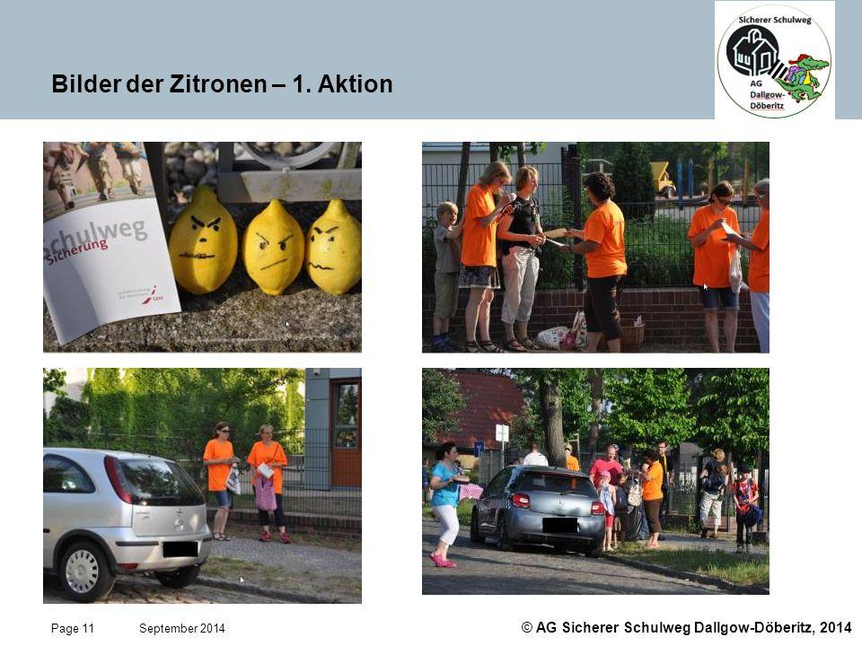 Bilder der Zitronen – 1. Aktion