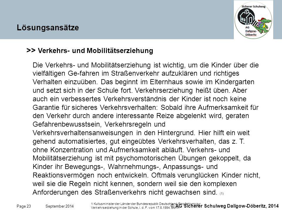 >> Verkehrs- und Mobilitätserziehung