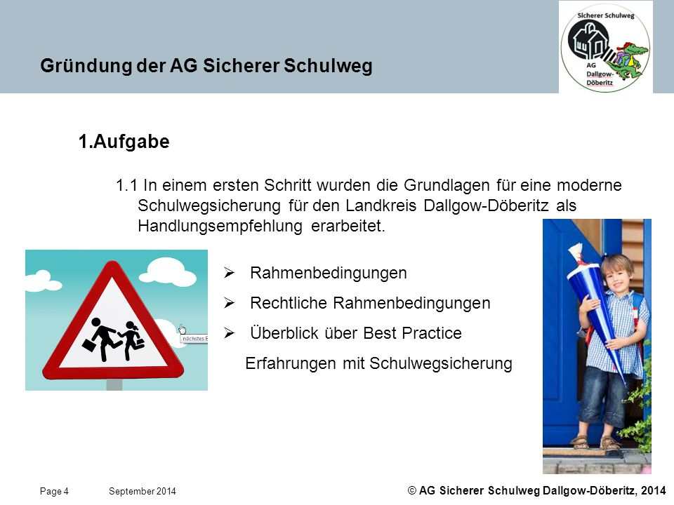 Gründung der AG Sicherer Schulweg
