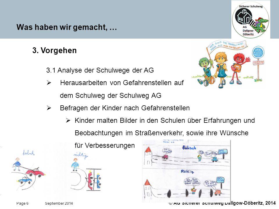 Was haben wir gemacht, … 3. Vorgehen 3.1 Analyse der Schulwege der AG