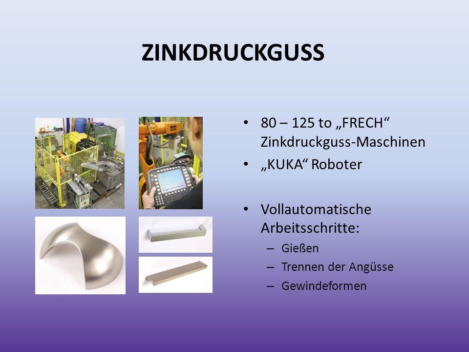 """ZINKDRUCKGUSS 80 – 125 to """"FRECH Zinkdruckguss-Maschinen"""