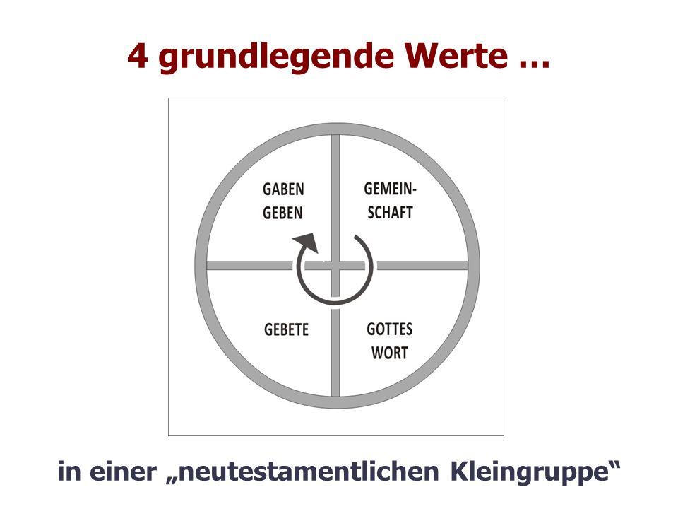 """4 grundlegende Werte … in einer """"neutestamentlichen Kleingruppe"""