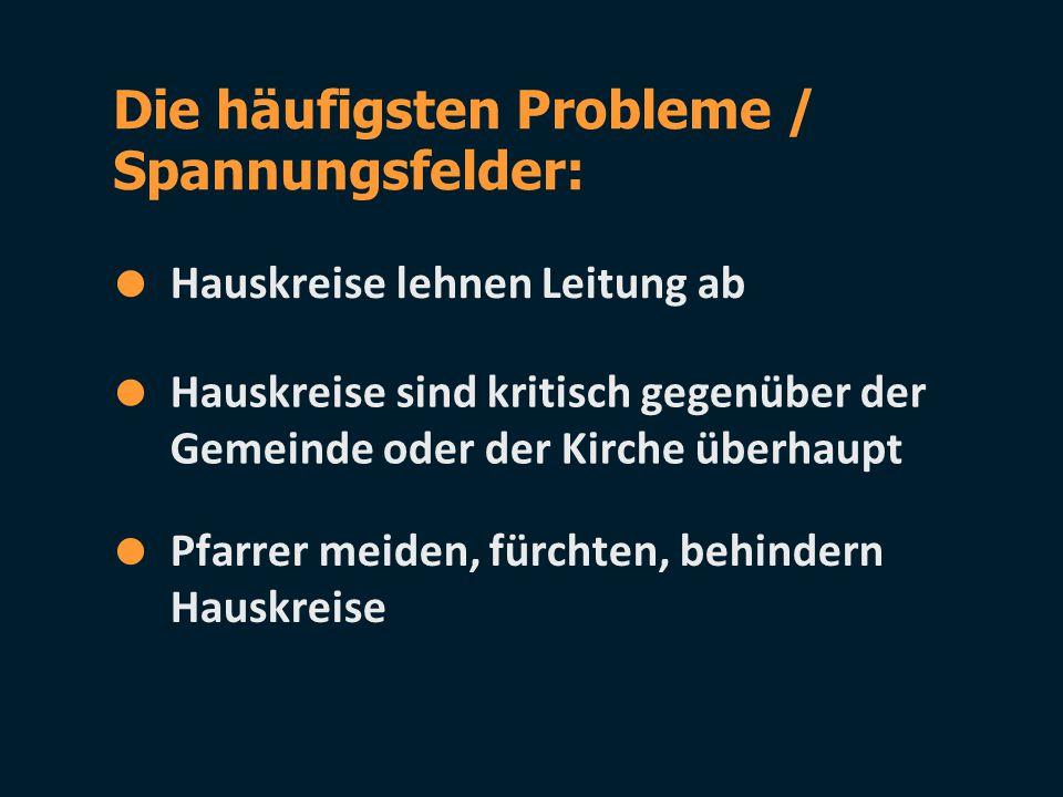 Die häufigsten Probleme / Spannungsfelder: