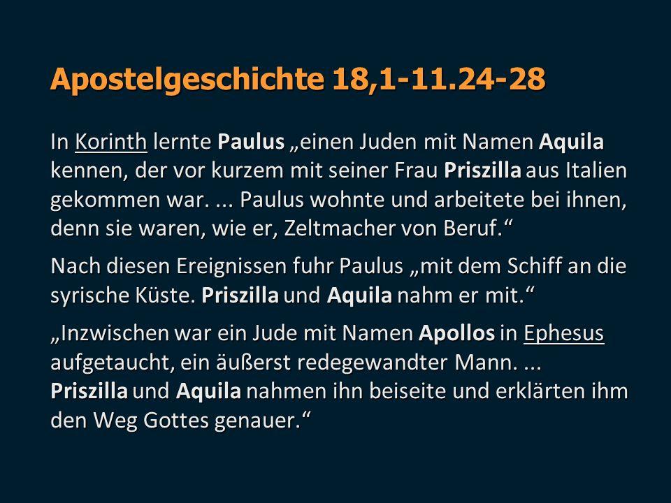 Apostelgeschichte 18,1-11.24-28