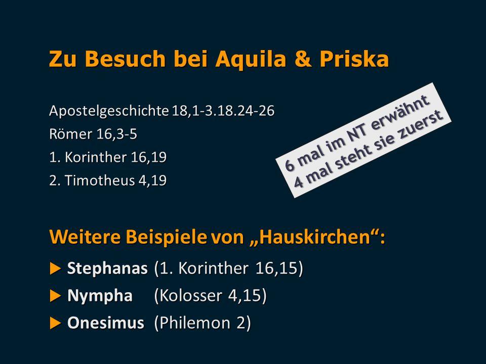 Zu Besuch bei Aquila & Priska