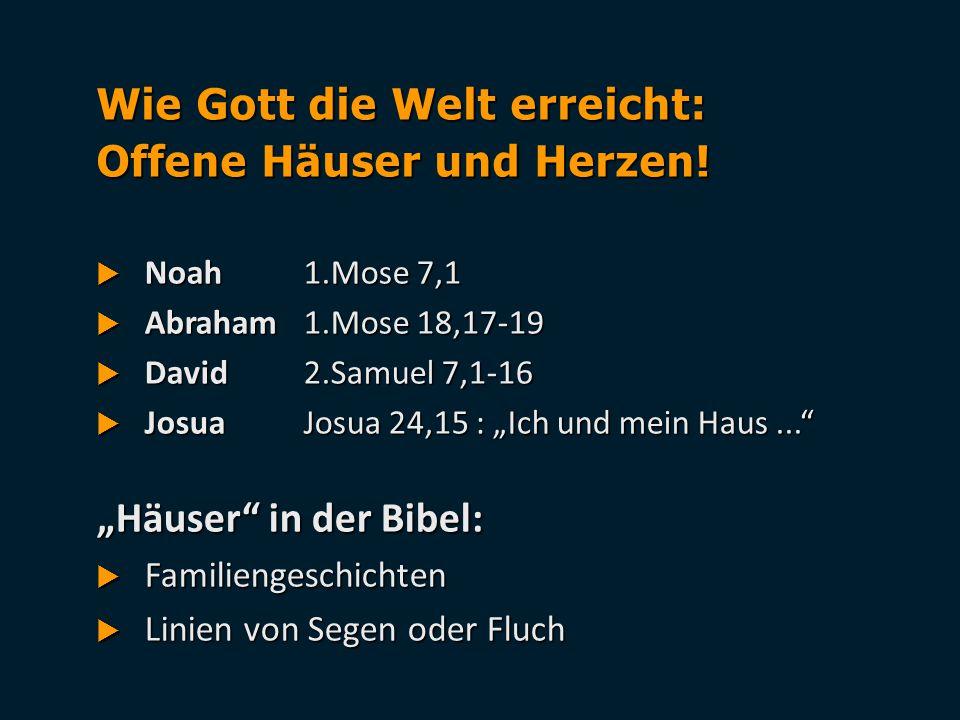 Wie Gott die Welt erreicht: Offene Häuser und Herzen!