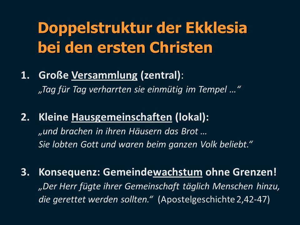Doppelstruktur der Ekklesia bei den ersten Christen
