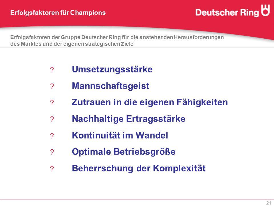 Erfolgsfaktoren für Champions