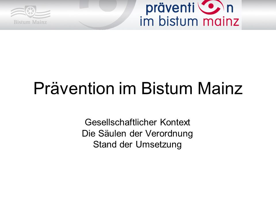 Prävention im Bistum Mainz