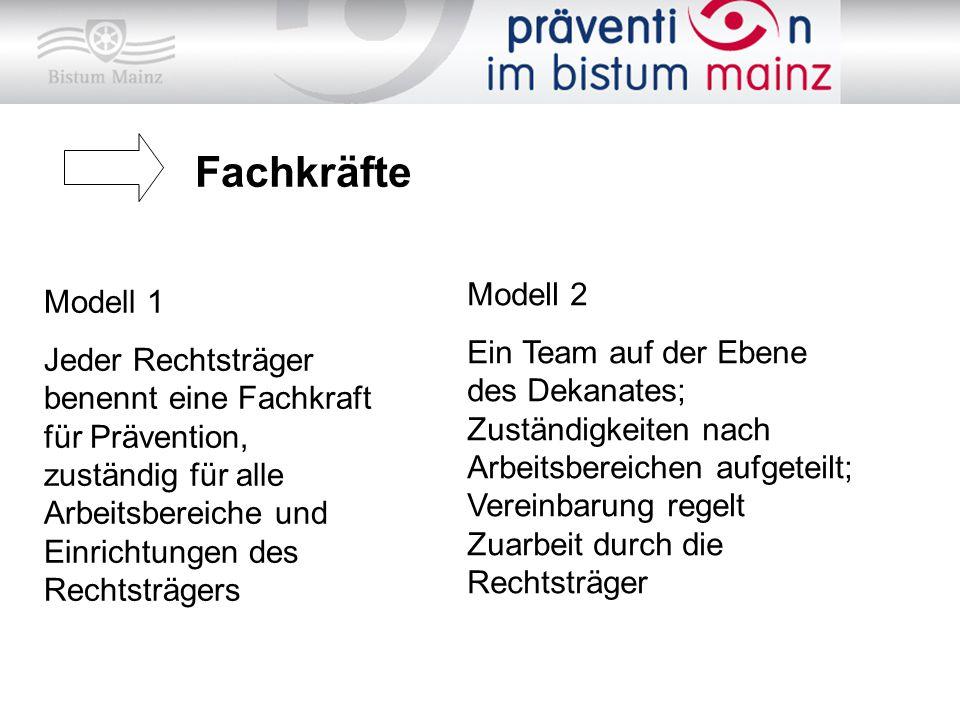 Fachkräfte Modell 2 Modell 1