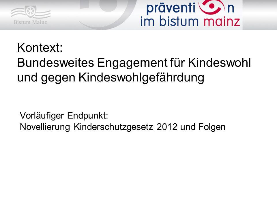 Kontext: Bundesweites Engagement für Kindeswohl und gegen Kindeswohlgefährdung