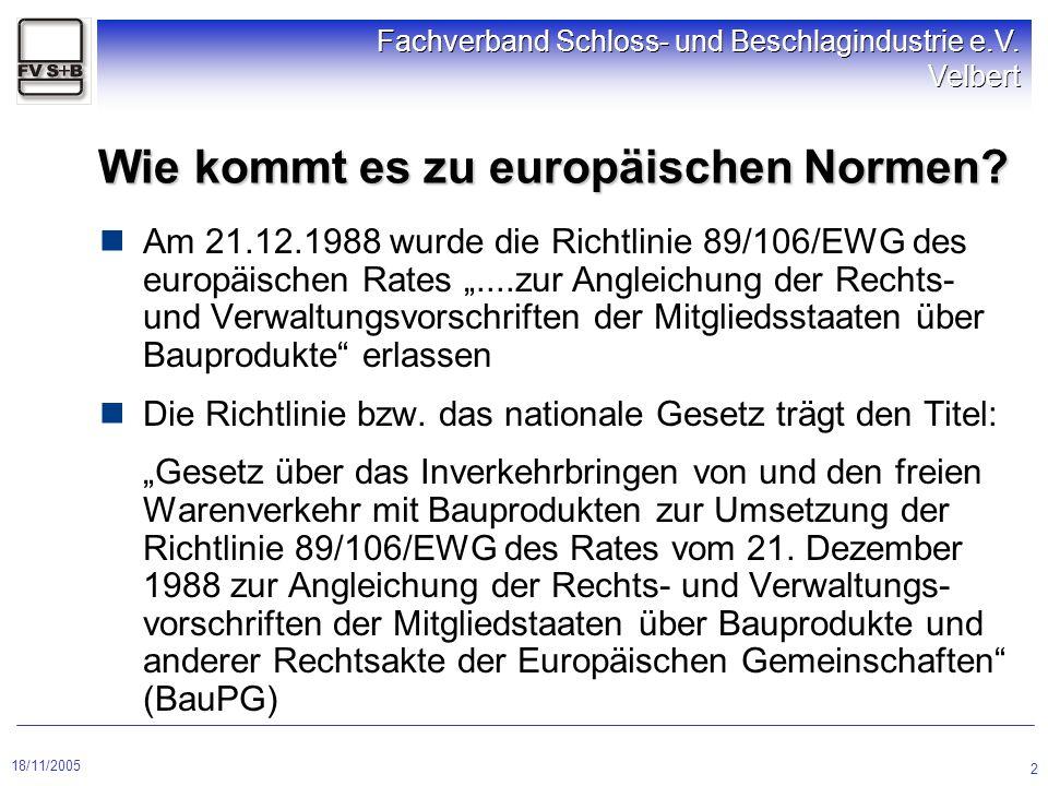 Wie kommt es zu europäischen Normen