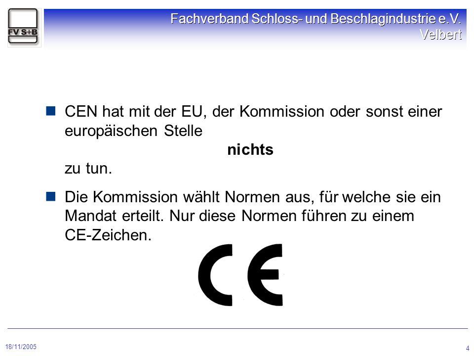 CEN hat mit der EU, der Kommission oder sonst einer europäischen Stelle nichts zu tun.