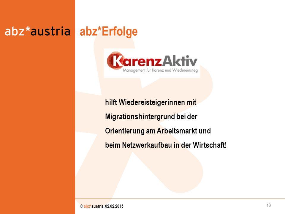 abz*Erfolge abz*austria hilft Wiedereisteigerinnen mit