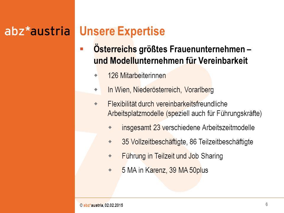 Unsere Expertise Österreichs größtes Frauenunternehmen – und Modellunternehmen für Vereinbarkeit. 126 Mitarbeiterinnen.