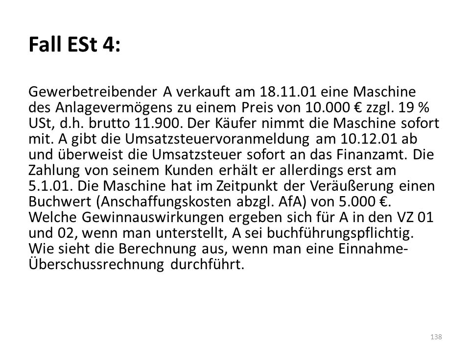 Fall ESt 4: