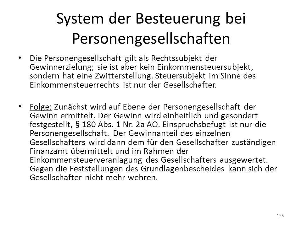 System der Besteuerung bei Personengesellschaften