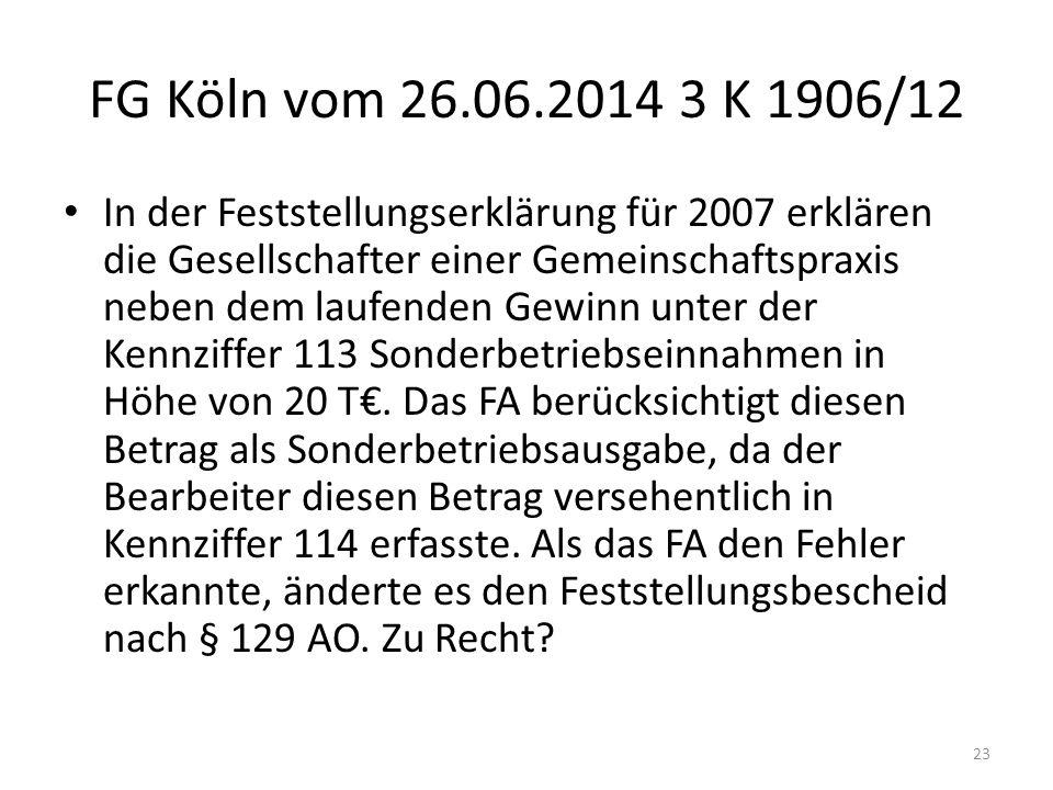 FG Köln vom 26.06.2014 3 K 1906/12