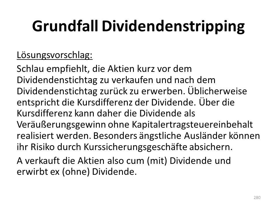 Grundfall Dividendenstripping