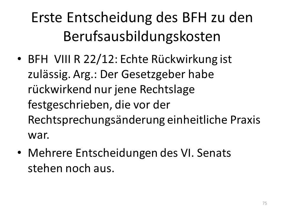 Erste Entscheidung des BFH zu den Berufsausbildungskosten