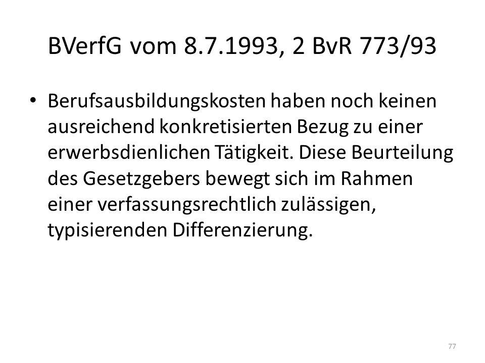 BVerfG vom 8.7.1993, 2 BvR 773/93