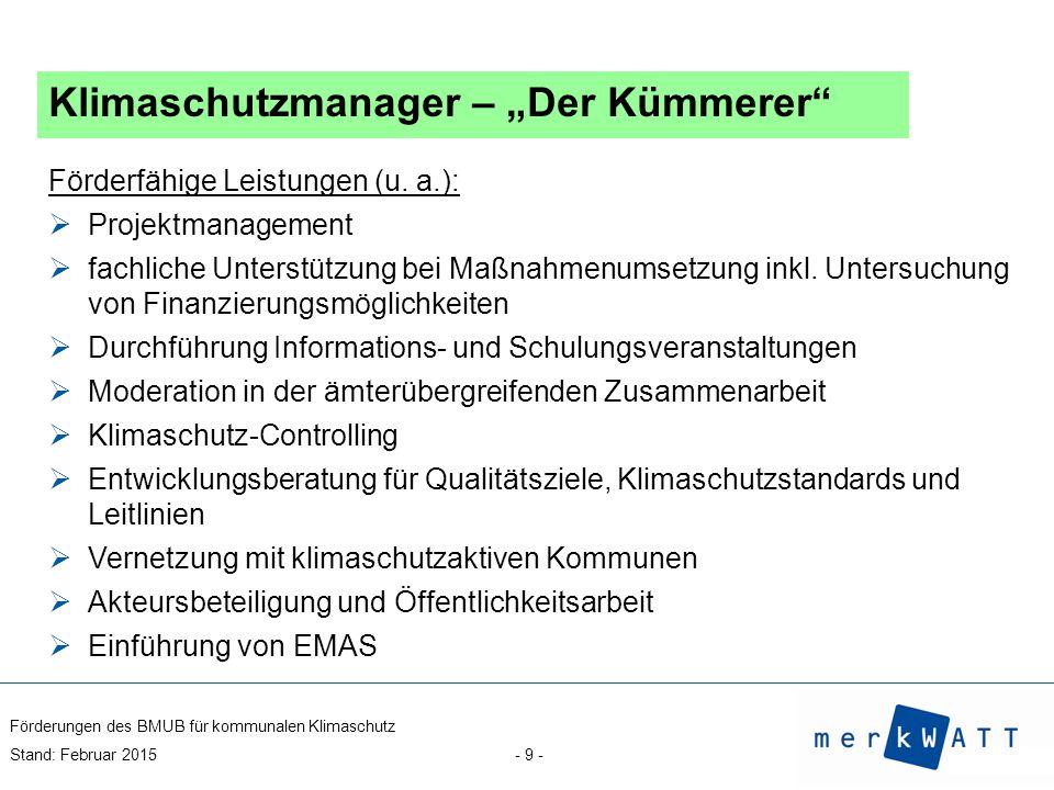 """Klimaschutzmanager – """"Der Kümmerer"""