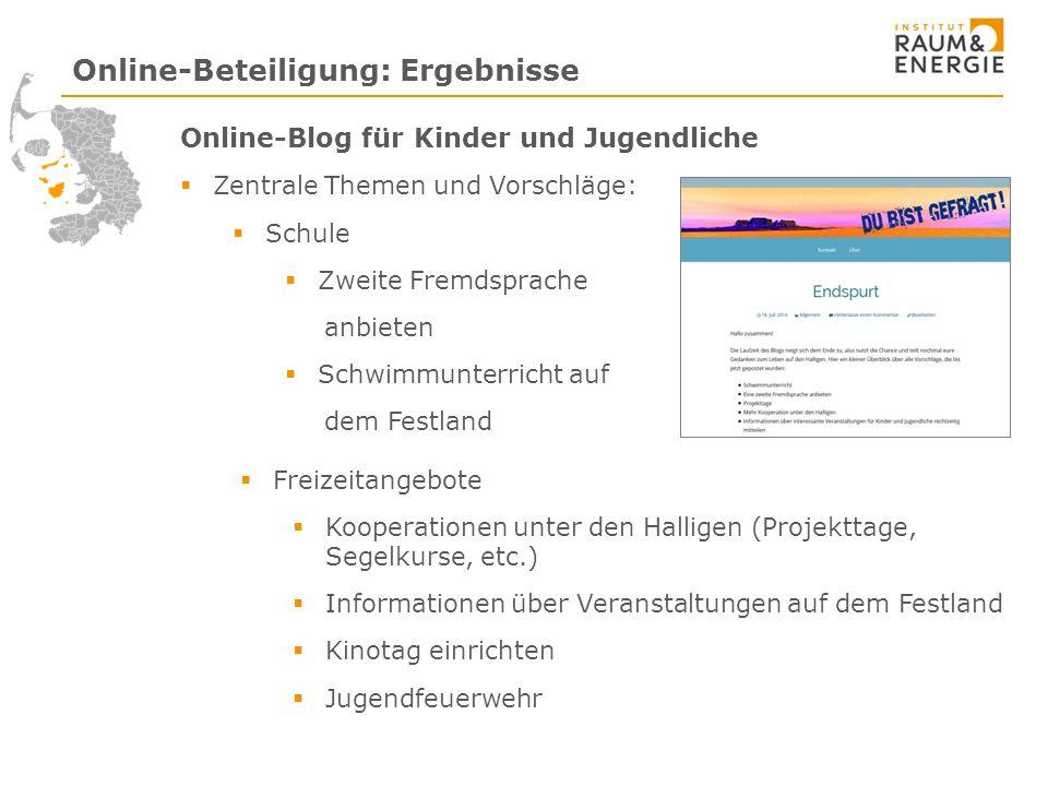 Online-Beteiligung: Ergebnisse