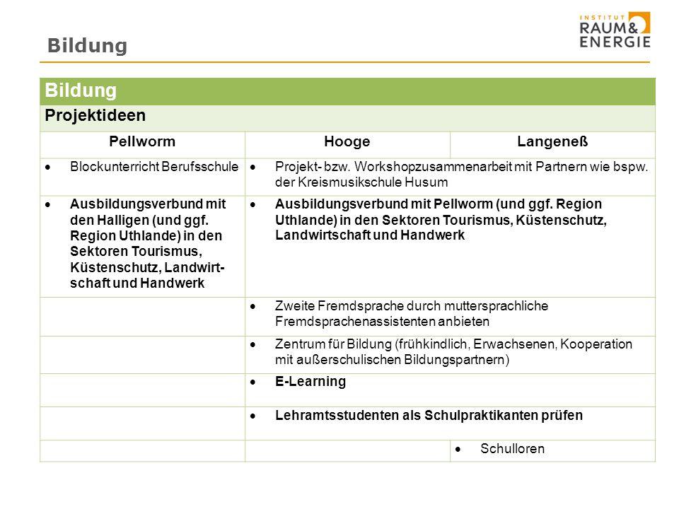 Bildung Bildung Projektideen Pellworm Hooge Langeneß