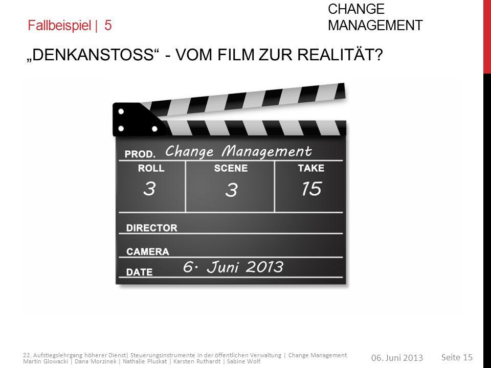 """""""Denkanstoss - Vom Film zur Realität"""