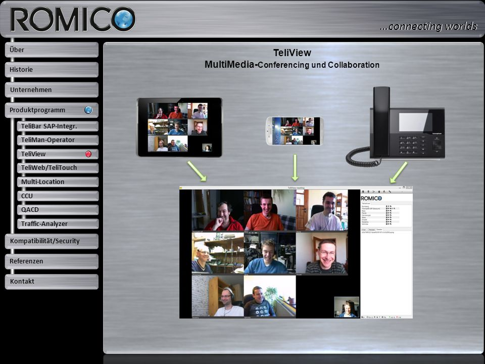 TeliView MultiMedia-Conferencing und Collaboration