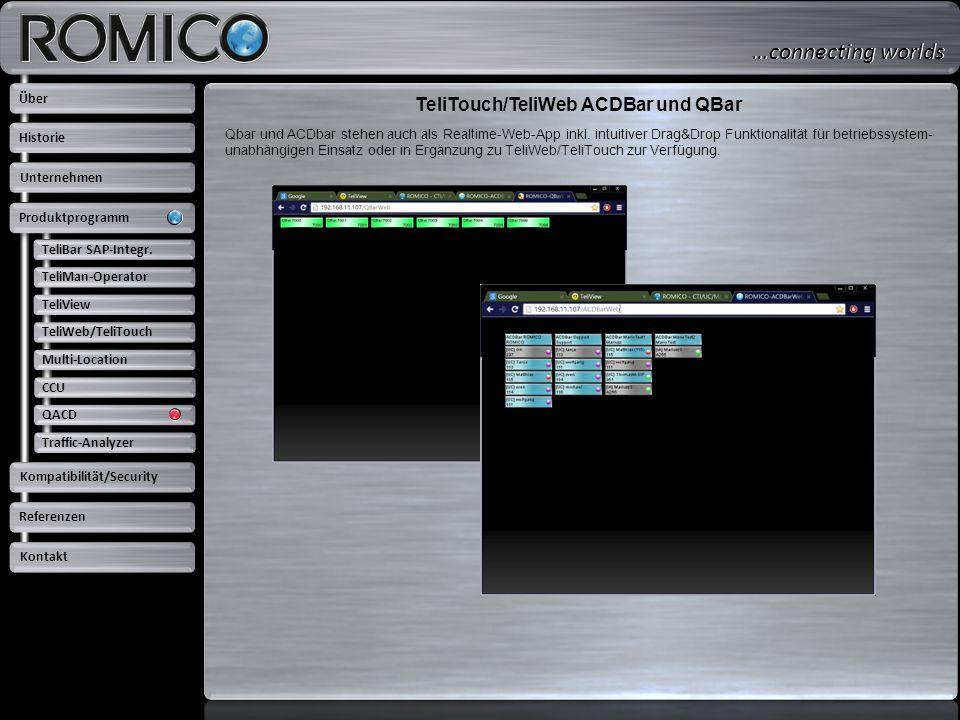 TeliTouch/TeliWeb ACDBar und QBar