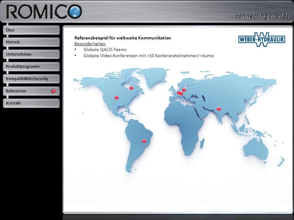 …connecting worlds Referenzbeispiel für weltweite Kommunikation