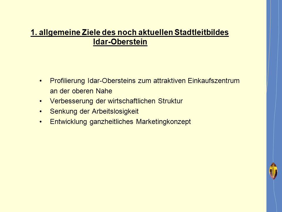 1. allgemeine Ziele des noch aktuellen Stadtleitbildes Idar-Oberstein
