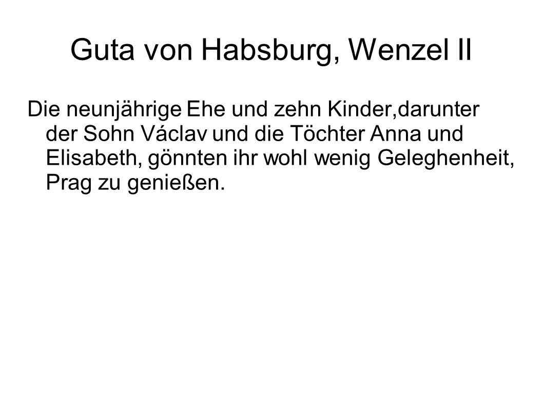 Guta von Habsburg, Wenzel II