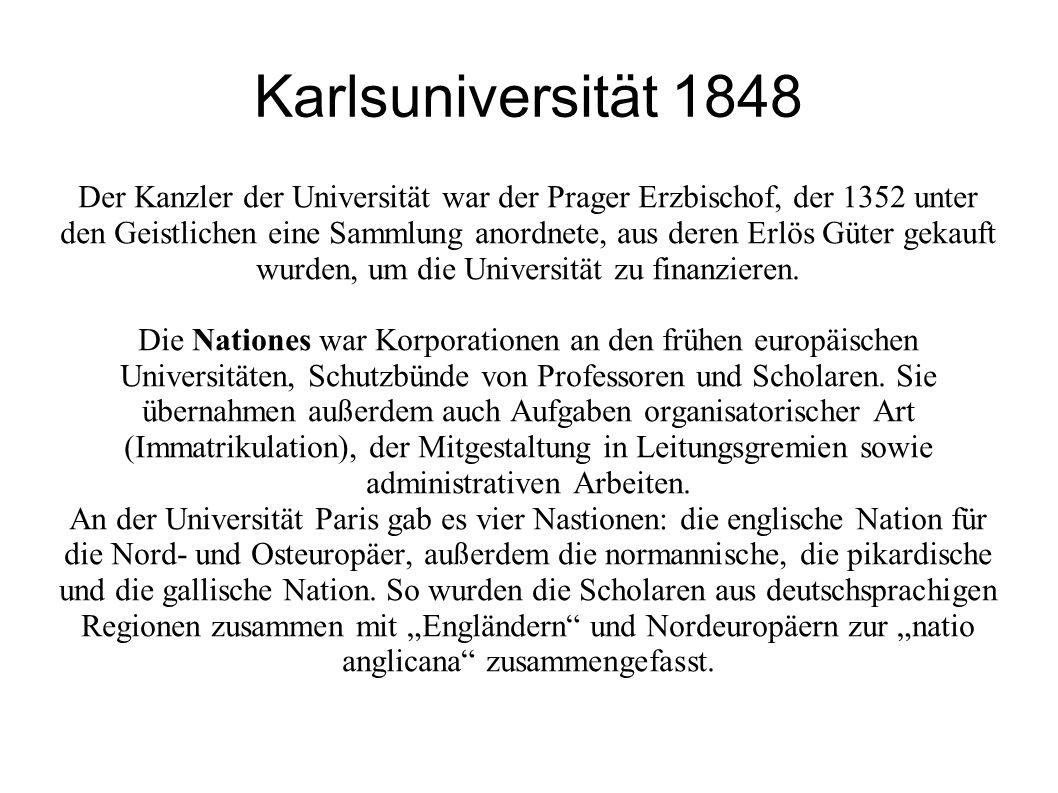 Karlsuniversität 1848