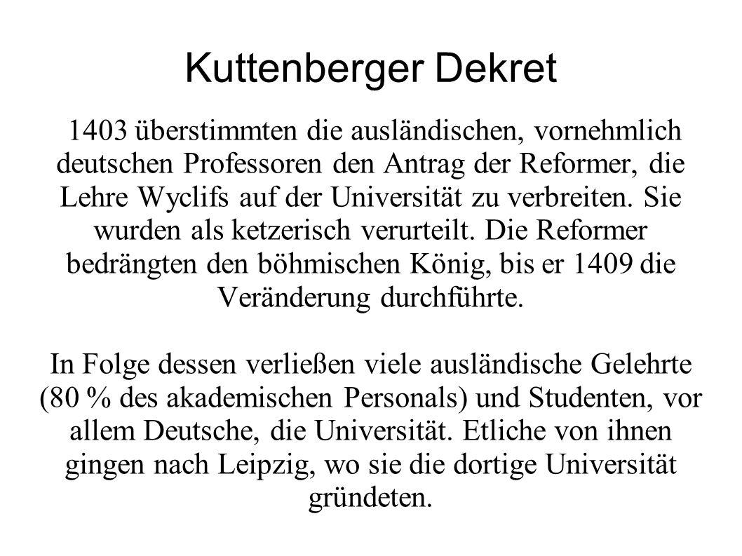 Kuttenberger Dekret