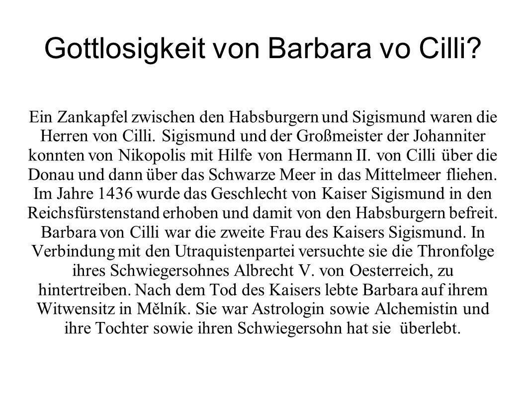 Gottlosigkeit von Barbara vo Cilli