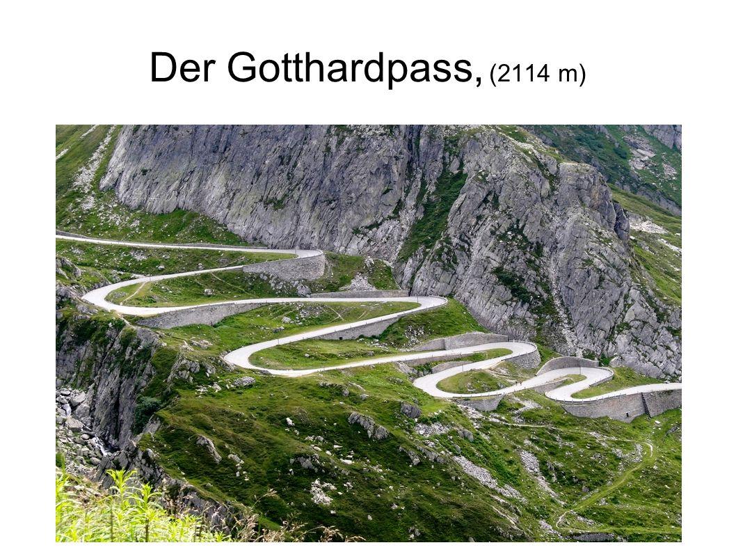Der Gotthardpass, (2114 m) Die Staufer erkannten in dem Gotthardpaß (2114 m) eine strategische wichtige Verbindung mit Italien.
