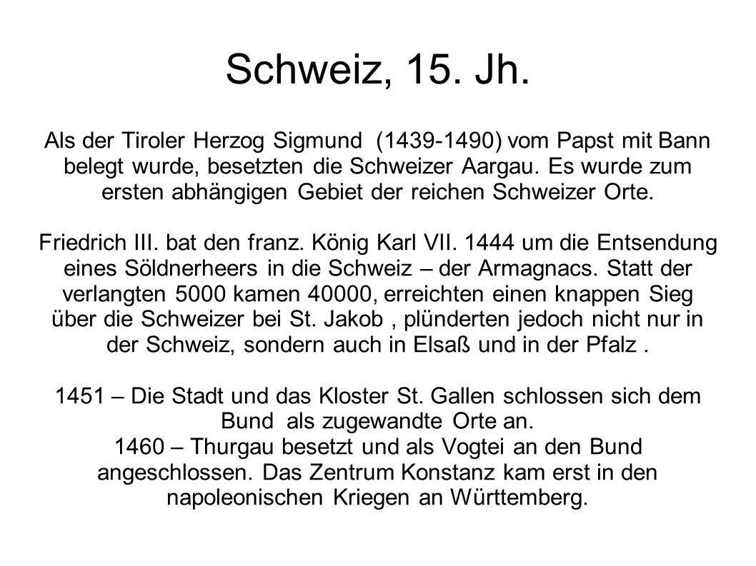 Schweiz, 15. Jh.