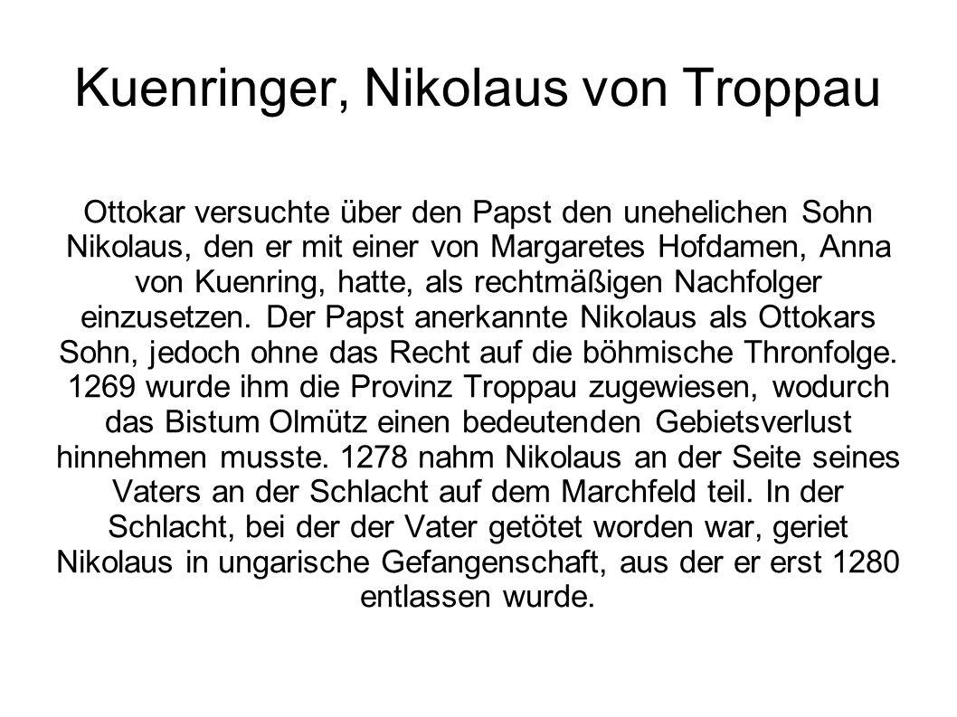 Kuenringer, Nikolaus von Troppau