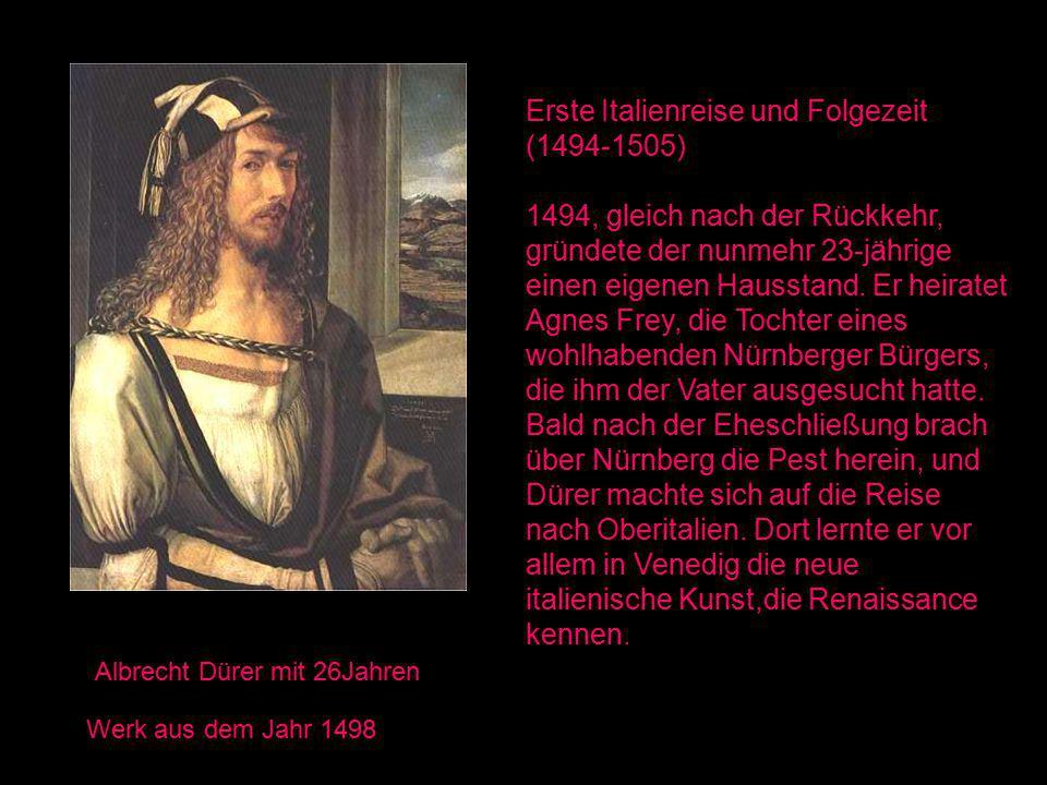 Erste Italienreise und Folgezeit (1494-1505)
