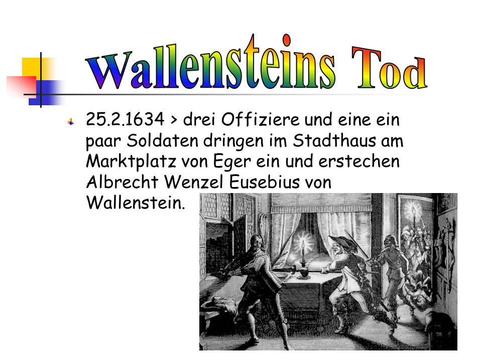 Wallensteins Tod