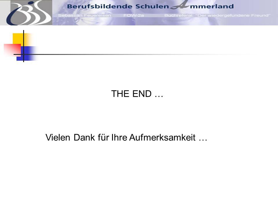 THE END … Vielen Dank für Ihre Aufmerksamkeit …
